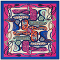 2016 Silk French H Big Cashew Rope Tassel Twill Winter Scarf Lady 100cm