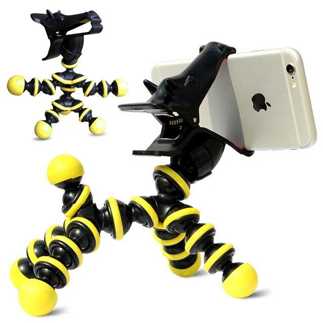 3D Смазливая Гибкие Верховая Телефон Штатив Монопод Кронштейн Держатель Для IPhone 6 5 Samsung S7 HTC LG Стенд Универсальный Держатель Телефона