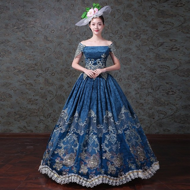 843efcc01e Victorian Edwardian Christmas Holiday Party Masquerade Gown Dress Theater  Reenactment Costume