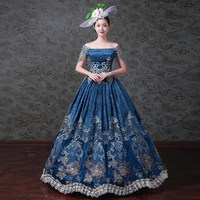 Victorian Edwardian Christmas Holiday Party Masquerade Gown Dress Theater Reenactment Costume