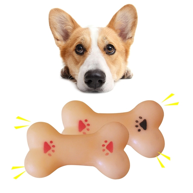 2018 Nuovo Resistente A Mordere Bone Cucciolo di Cane Molari Palla di Gomma Giocare Per I Denti di Formazione Termica di Plastica di Gomma Del Cane Da Compagnia giocattoli