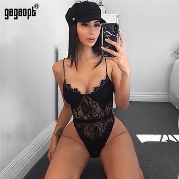 Gagaopt 2018 été dentelle body femmes évider moulante Sexy body combinaison salopette Streetwear