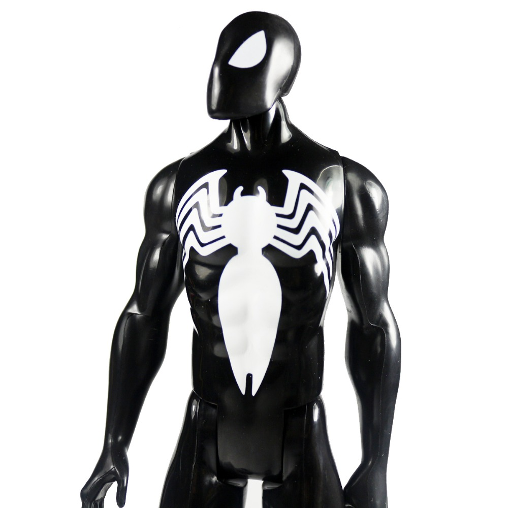 "Marvel Ultimate <font><b>Spider-Man</b></font> <font><b>Titan</b></font> <font><b>Hero</b></font> <font><b>Series</b></font> Black Suit Spiderman Figure 11.5"" DC003030"