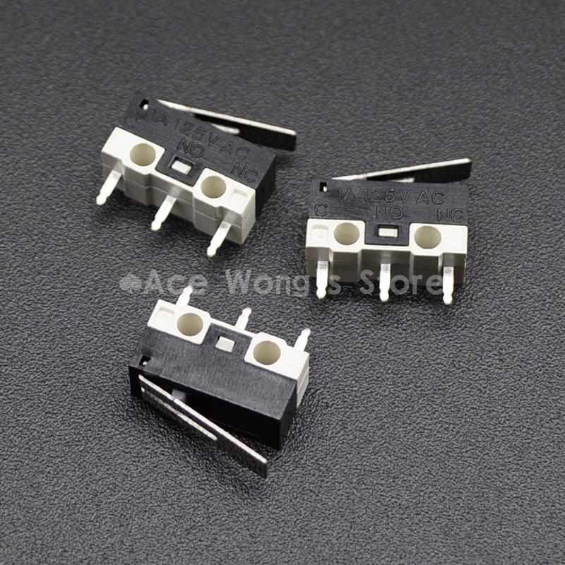 HTB1zwzsdx3IL1JjSZPfq6ArUVXax - 10Pcs Limit Switch Push Button Switch 1A 125V AC Mouse Switch 3Pins Micro Switch