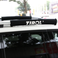 TIROL T21877 Pair 2pc Soft Roof Rack Protector Black Luggage Rack Outdoor Portable Removable Roof Of