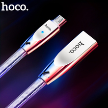 ORIGINAL HOCO U9 Zinc Alloy Jelly Knitted Micro USB Charging Data cable for Samsung LG Sony HTC Xiaomi 1.2m 2.4A free shipping