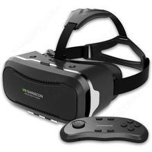 จัดส่งฟรี! 2ND Shinecon 3D VRแว่นตาหัววิดีโอชุดหูฟังความเป็นจริงเสมือน+บลูทูธควบคุม