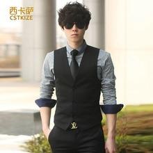 2016 New Hot Men's Dress formal business men party dress vest suit vest dress casual Slim Men Men