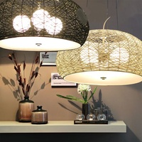 Now Simple Bamboo Rattan Lanternpendant Lights Personality Library Restaurant Bedroom Cafe Home Lighting Pendant Lamps ZA