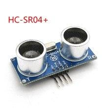 Sensor ultrassônico do transdutor de medição da distância do módulo HC-SR04 + para o módulo largo do sensor do disparador da tensão 3-5.5v io de uno hcsr04 +