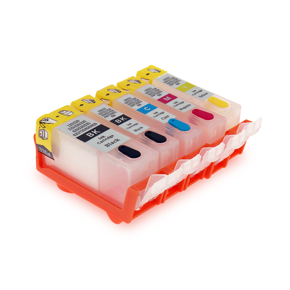 PGI-525 CLI-526 Refillable Ink Cartridges For Canon PIXMA MG6150 MG5250 MG8150 MG8250 IP4850 IP4950 IX6550 With ARC Chips