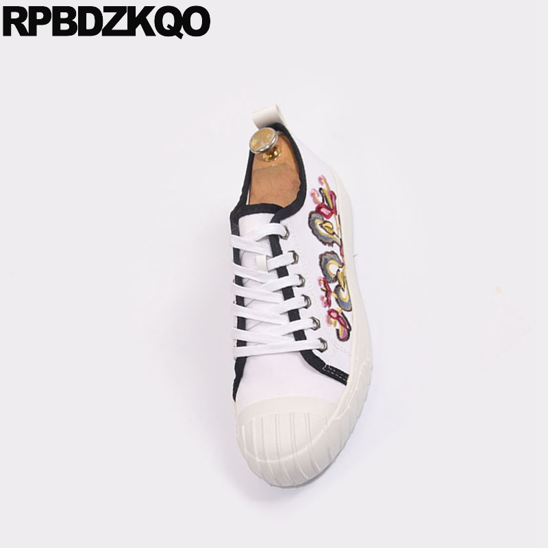 designer canvas sneakers lace up casual
