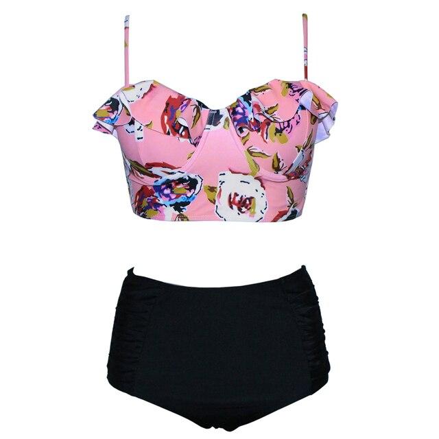 7b5a3644674 Rhyme Lady 2018 brazilian high waist Swimsuit Push Up Swimwear young girl  sexy bikini Beach Bathing