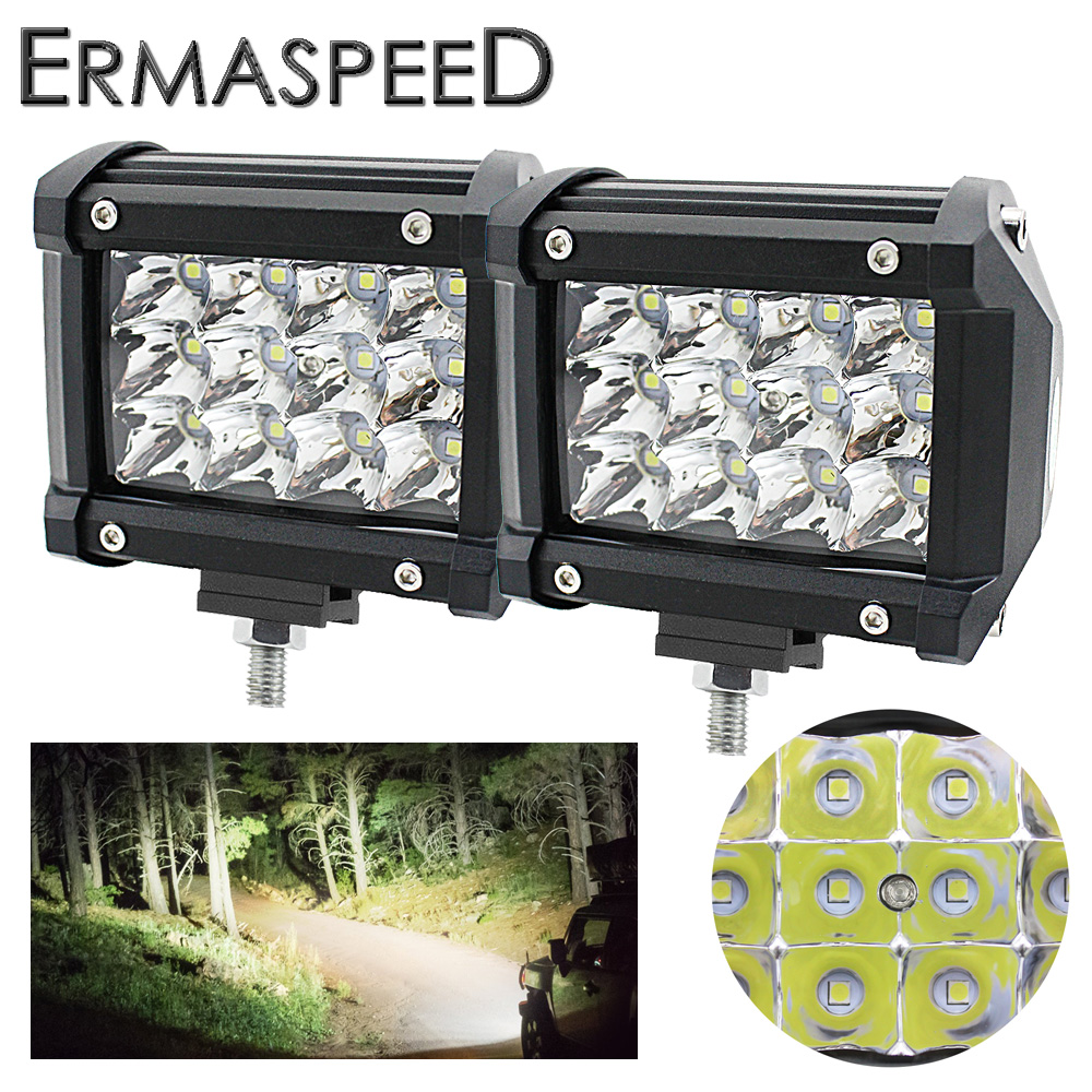 Pair Motorcycle LED Headlight font b Lamp b font Aluminum Spot Light 36W 6000K for Harley