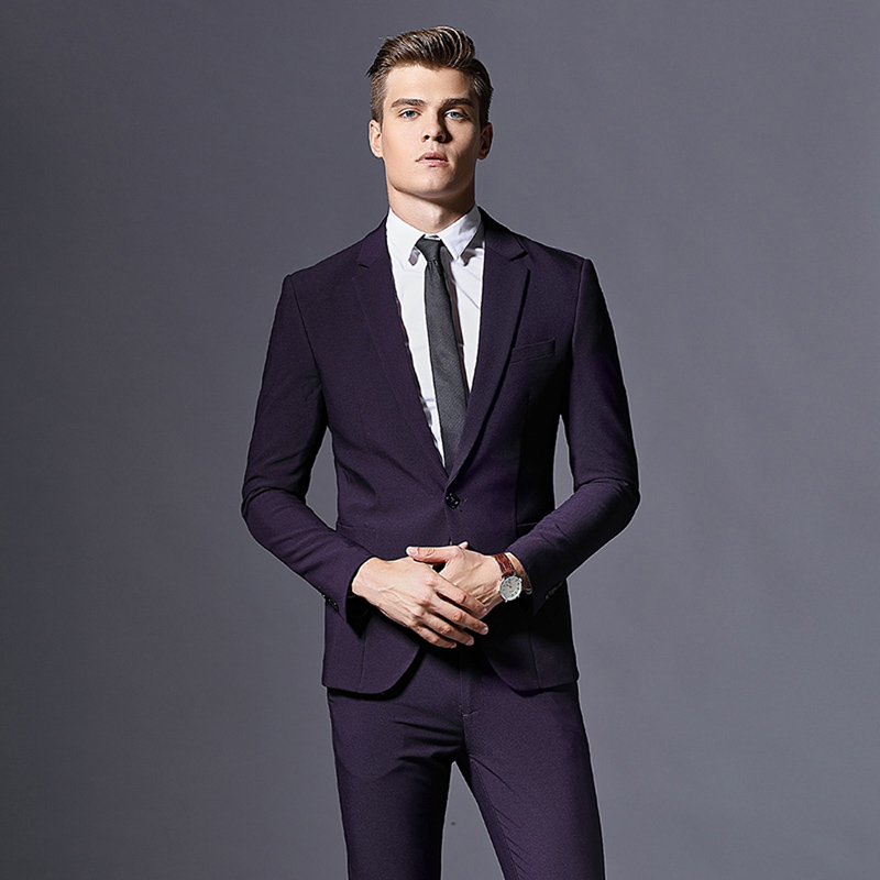 8e6fb1d8263 Men s Casual Slim Fit 3 Piece Suits For Wedding Tuxedos Groomsmen prom Suit  Single Button mens Blazers Jacket with pants   Vest on Aliexpress.com