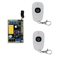 Mini Size 220V 1CH 1CH 10A Wireless Remote Control Switch Relay Receiver 2 X Waterproof Transmitter