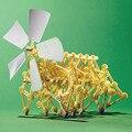 2016 Venta Caliente DIY Puzzle Eólicos Walker Walking Strandbeest Asamblea Potente Modelo de Juguete Regalo de Los Niños Envío de La Gota