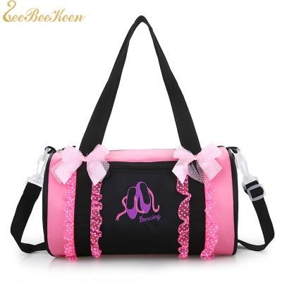 5c301bf556ded1 Ballet Dance Sports Backpacks Rucksack Cavans Lace Rose Ballet Bag For  Girls Ballet Dance Bag Pink Embroidered Gym Bags Women