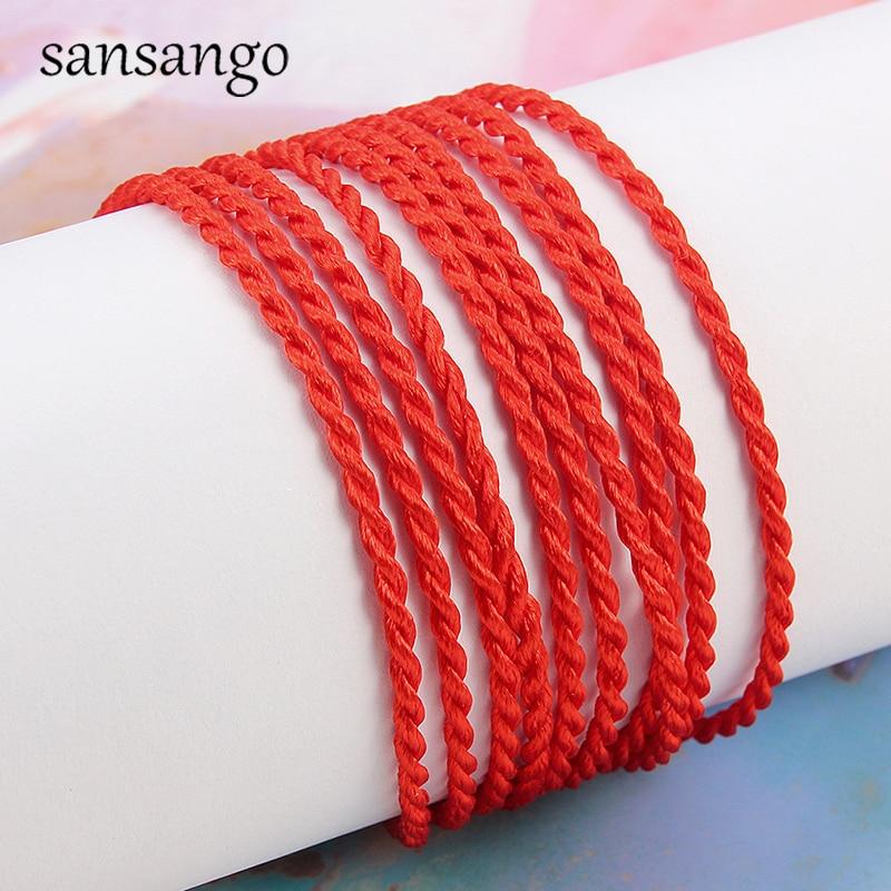 50 Pcs 2mm Red Rope Braided Red Line Good Luck / Rope / Rope Bracelet Female Men's Gift Protection Women Men Gift