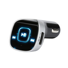 Dual USB Port Car Charger Bluetooth FM Transmitters Handsfree Phone Car Kits MP3 Player With Blue LED Digital Display #T2(China)