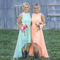 Bridesmaid Dresses xiangyihui BD0062 Cap Sleeve chiffon Sleeveless Wedding Party Pregnant Dress High/low Bridesmaid Dresses