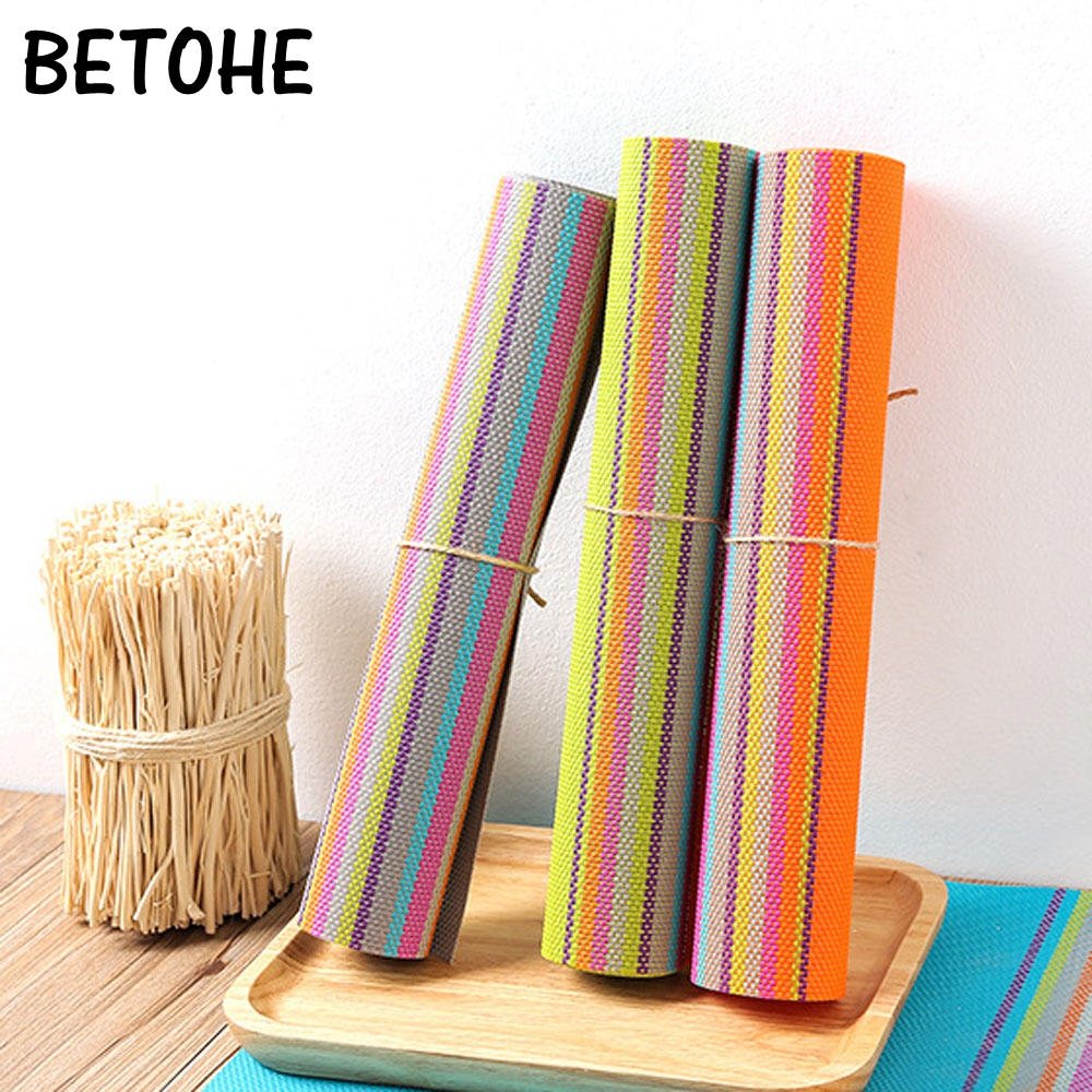 BETOHE New Fashion PVC Dining Table Placemat Europe Style Kitchen Tool Tableware Pad Coaster Coffee Tea Place Mat