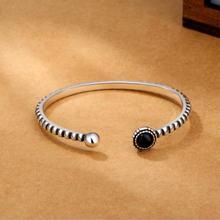 Женский браслет в стиле ретро изысканный круглый из черного