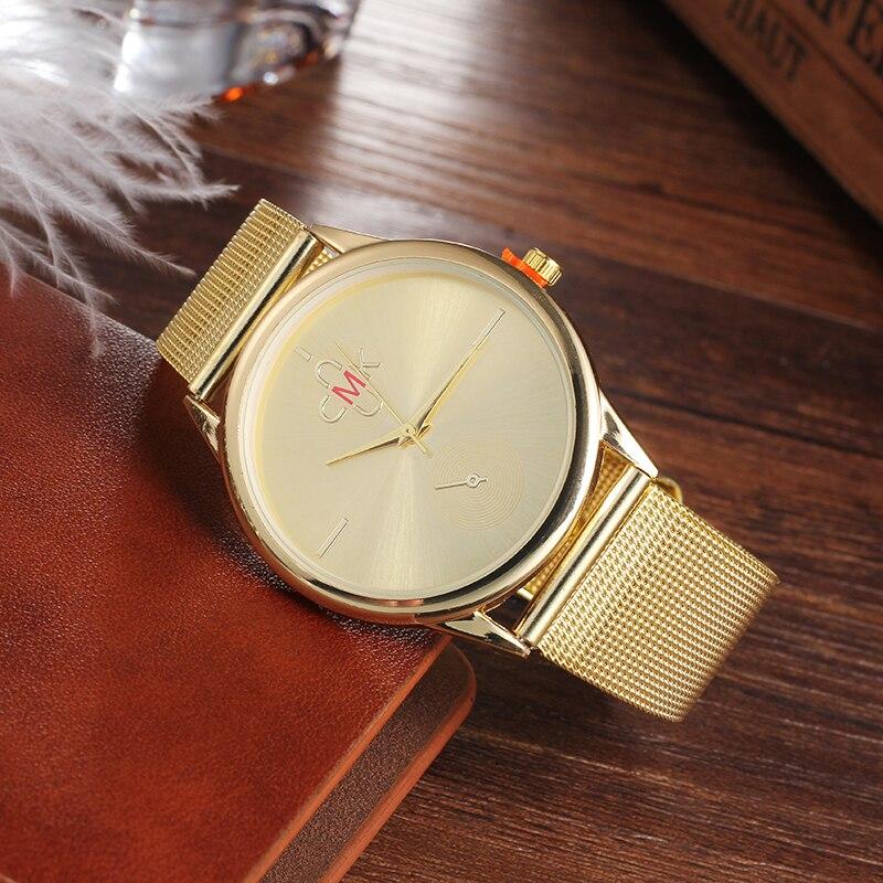 232424c2f6c CMK 2018 Top de Luxo Da Marca Mulheres Relógios Relógio Banda Malha De Aço  Inoxidável Super Slim Feminino Vestido Simples de Design Relógio de  Senhoras ...