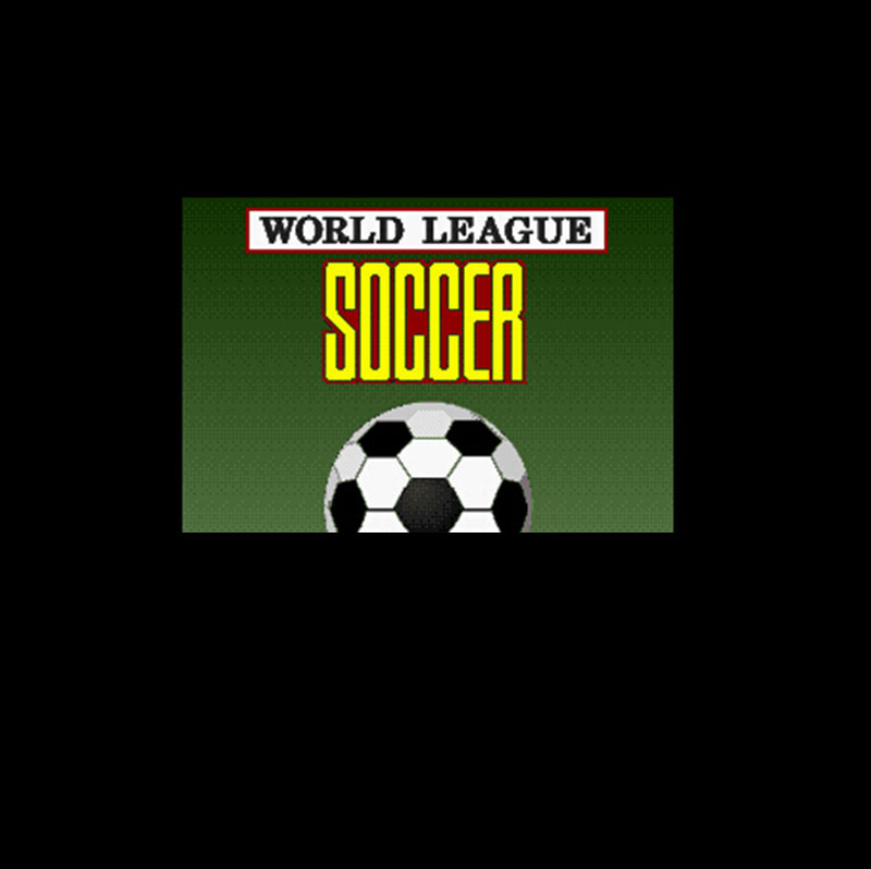 World League Soccer 16 bit Big Gray Game Card For NTSC Game Player Drop Shipping image