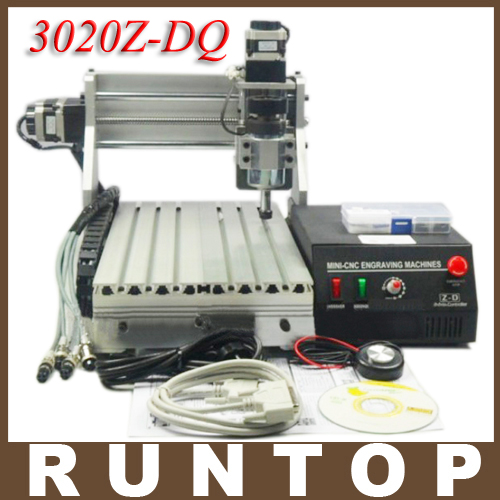 230W Advanced Three-axis CNC Router Engraver Engraving Milling Drilling Cutting Machine CNC 3020Z-DQ with Ball Screw cnc 5axis a aixs rotary axis t chuck type for cnc router cnc milling machine best quality
