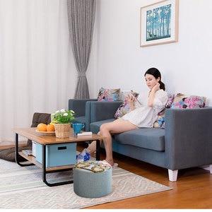 Image 3 - Creative שרפרף שרפרף ספת אופנה בד שרפרף סלון עץ מסגרת שרפרף קטן ספסל בית פשוט ילד מושבים 20cm