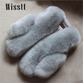Wisstt Baby Fur Vest Girl Rabbit Fur Clothes Imitation Fox Fur Coat Kids Warm Vest Waistcoat Children Winter Jacke Faux Fur Coat