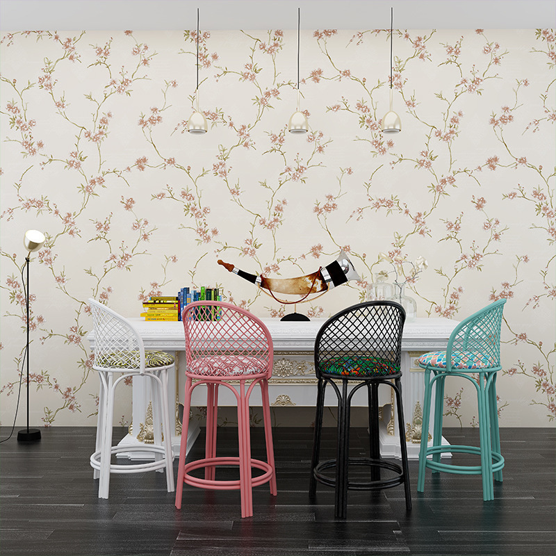 Wallpaper Pastoral Style Small Fresh Floral Girl Bedroom Living Room TV Background 3D Non woven Wall Paper Roll in Wallpapers from Home Improvement