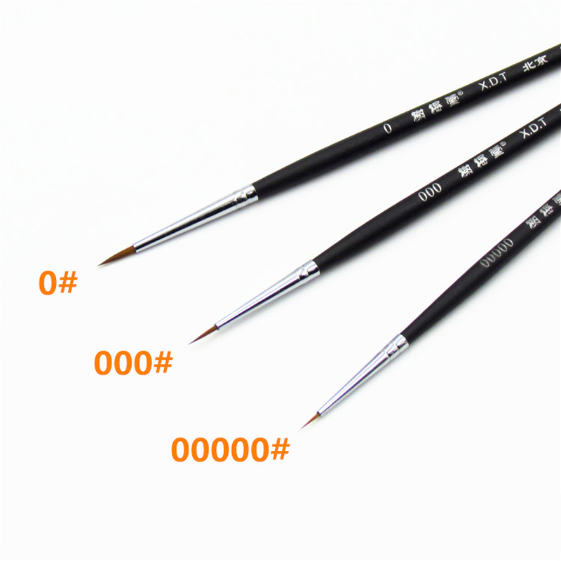 No 3 Model Special Point Brush High Quality Nylon Brush Very Fine Hook Line Pen Models