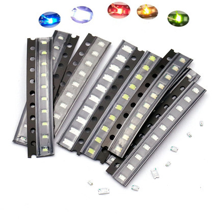 5 Colors X20pcs =100pcs SMD 0805 Led Super Bright Red/Green/Blue/Yellow/White Water Clear LED Light Diode