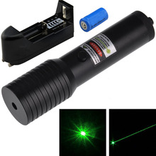 High Power Mini Flashlight Style Red Green Laser Pointer Green Laser Pen + 16340 Battery + Charger Free Shipping