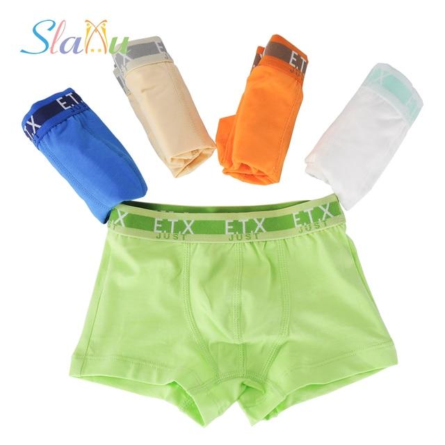 34d13332e784 5-Pack Organic Cotton Boys Underwear Pure Color Children's Boxer for Kids Boy  Shorts Panties Teenage Underwear 2-16T
