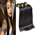 Grado 8a en Bruto 100% Peruana Virginal Del Pelo Recto 3 Bundles HC Hair Company Barato Pelo Peruano de la Virgen 3 Bundle Ofertas