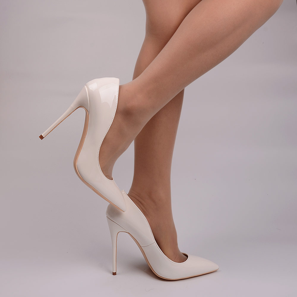 4061dabedaf View Offer. Tags: veowalk, women, super, high, heels, sexy, thin, pumps,  white, patent, leather, pointed, toe ...