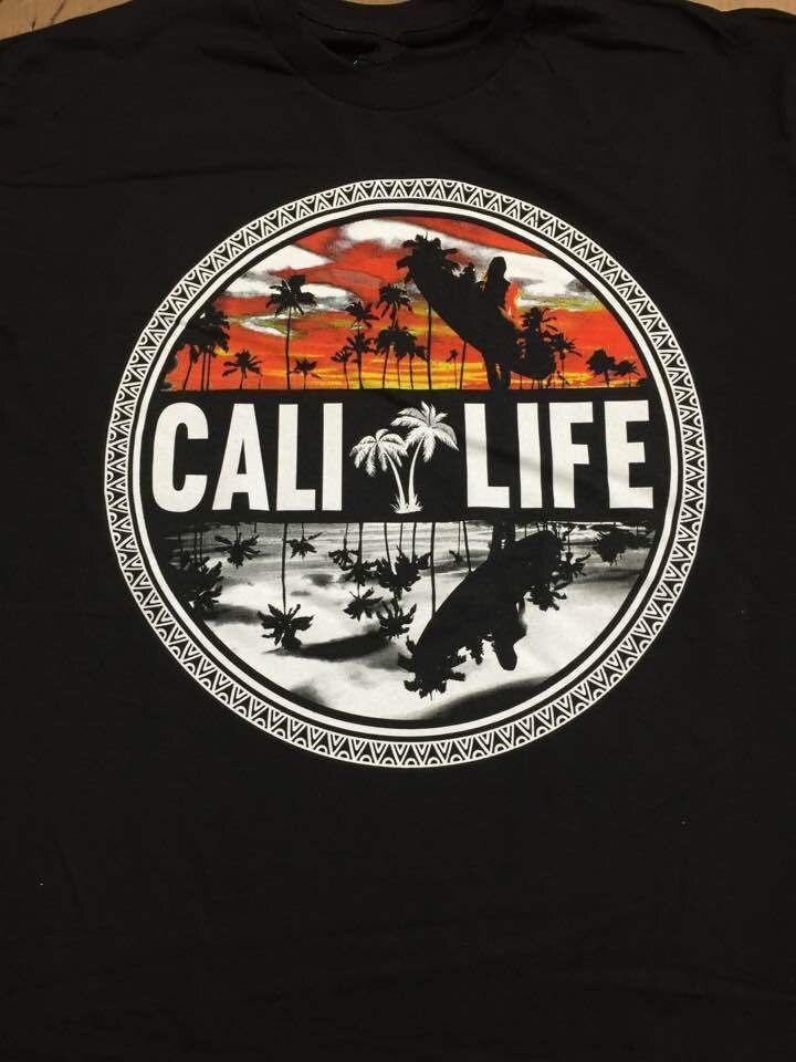 Make Your Own T Shirt Design Men Cali Beach Logo Two Colors Circle California O-Neck Short-Sleeve T Shirts