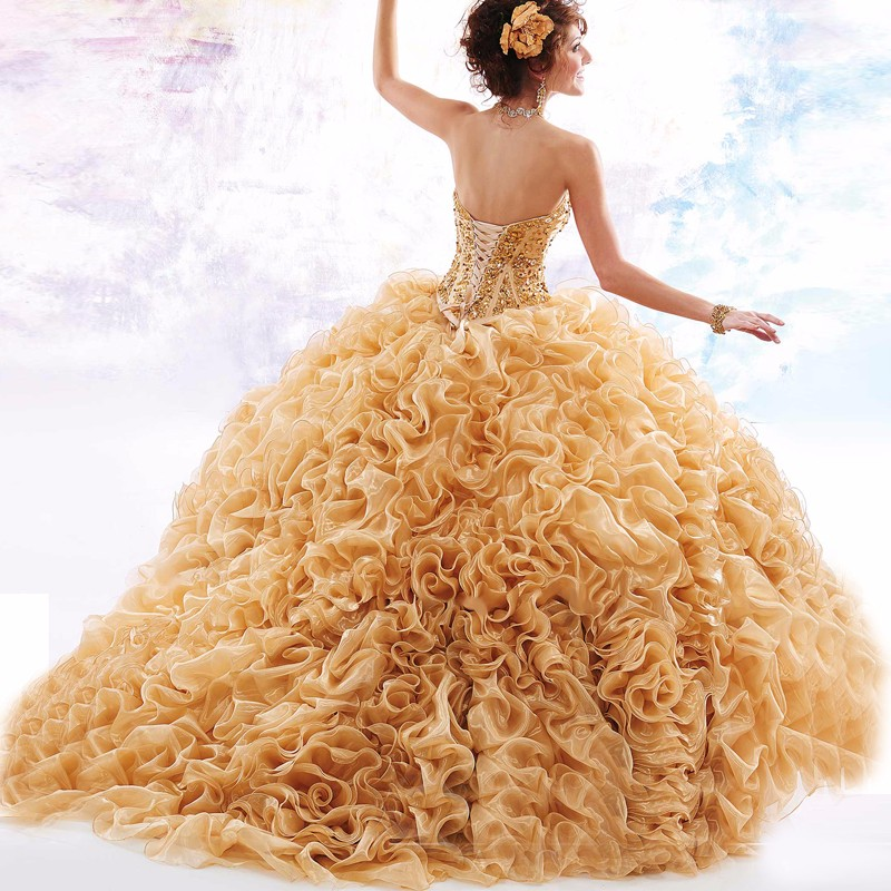 2016-Luxurious-Gold-Quinceanera-Dresses-Ball-Gowns-Sweetheart-with-Ruffles-Organza-Crystal-Beading-Vestidos-De-15 (1)