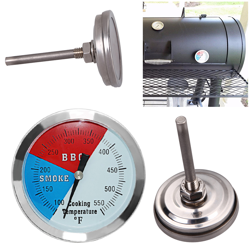 High Quality 100-550 Degrees Roast Barbecue BBQ Smoker Grill Thermometer Temp Gauge New Arrival