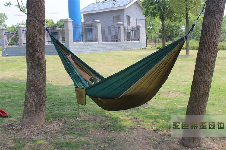 2 people Hammock 16 Camping Survival garden hunting swing Leisure travel Double Person Portable Parachute outdoor furniture 19