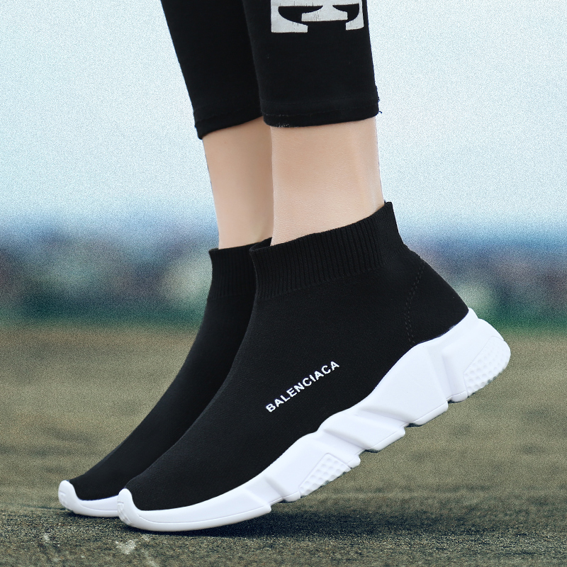 Hip hop women stretch sock boots fashion breathable spring and summer platform Sneakers Comfortable light casual shoes ...