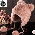 korean winter hats for women  plush mink fur hat with silver fox fur 2016 lady's fashion warm Beanies Brand hats