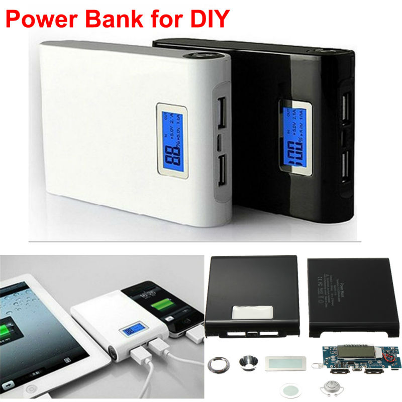 DIY Kit Dual USB 5V 1A/2A Power Bank 18650 Battery Charger Box for phone and pad 18650 lithium battery 5v micro usb 1a charging board with protection charger module for arduino diy kit