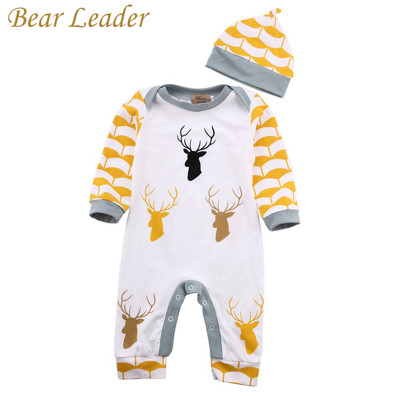 Bear Leader Autumn Winter Baby Rompers Baby Boys Clothes Long Sleeve Jumpsuits Deer Printing Cotton Infant Costume Kids Clothes cotton baby rompers set newborn clothes baby clothing boys girls cartoon jumpsuits long sleeve overalls coveralls autumn winter