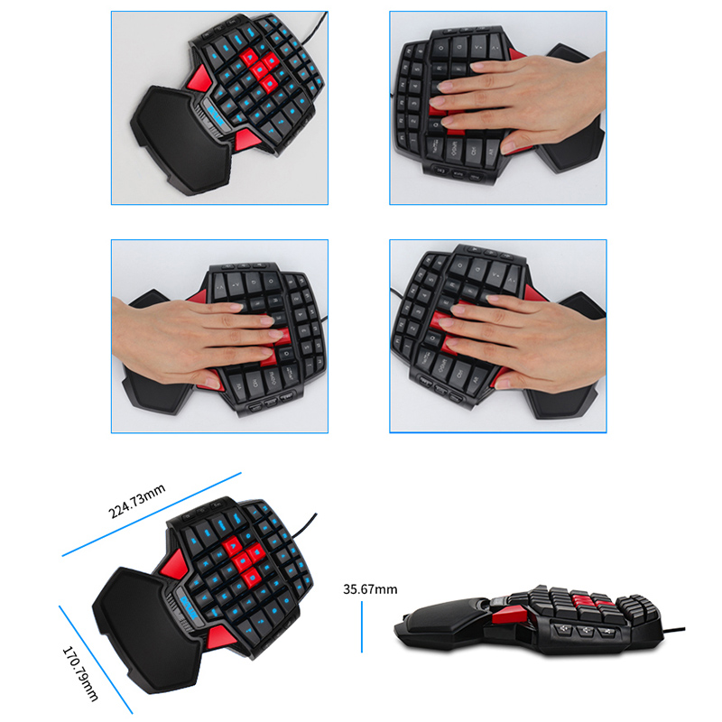 Comprare Delux T9 Pro Gaming Keyboard USB Wired Tastiera