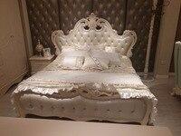 0305FDL8801 современный французский стиль роскошный Европейский кожа king size удобная кровать кадр мебель для спальни