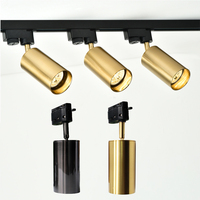 Zerouno GU10 7W Led Track light aluminum Ceiling Rail Tracking lighting Spot Rail Spotlights Replace Halogen Lamps AC 220V